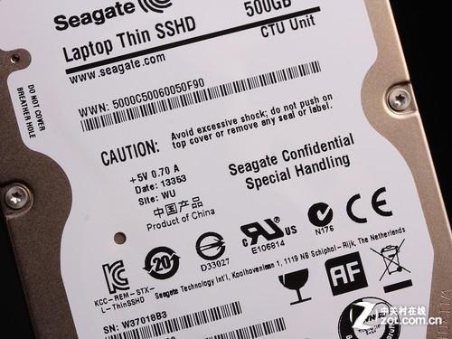 希捷 SSHD 500GB(ST500LM000) 产品标识