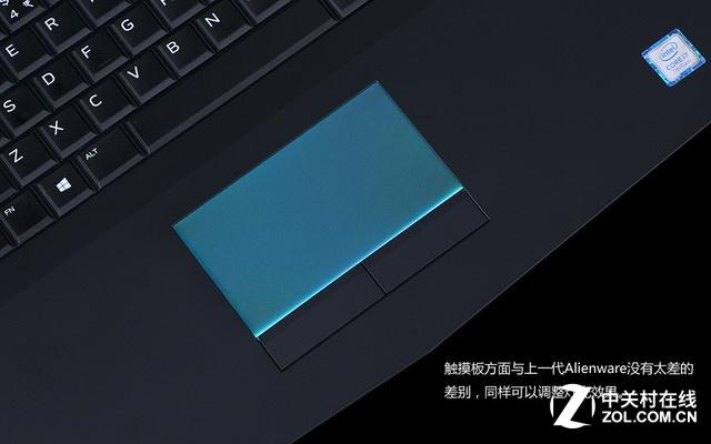 Alienware 15银色 触控板图