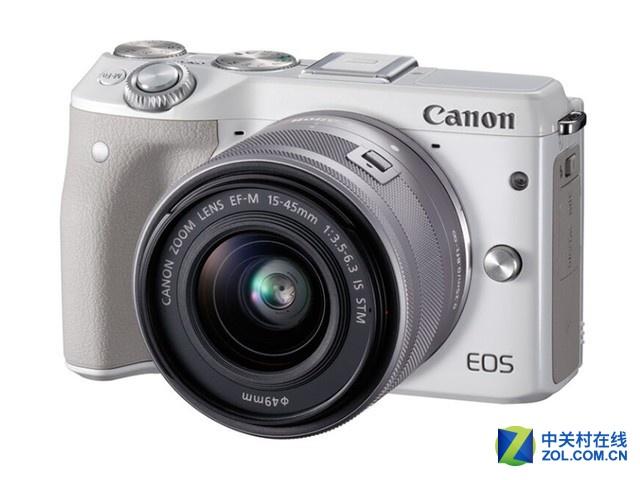 搭载15-45mm防抖镜头 佳能EOS M3送配件